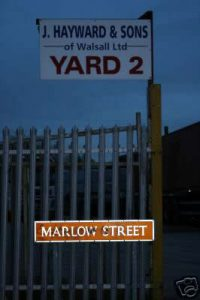 Marlow street in Walsall. Site of an earlier Marlow family premises.